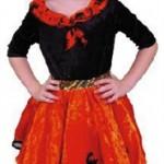 Heksenjurk & Hoed, Zwart/Oranje