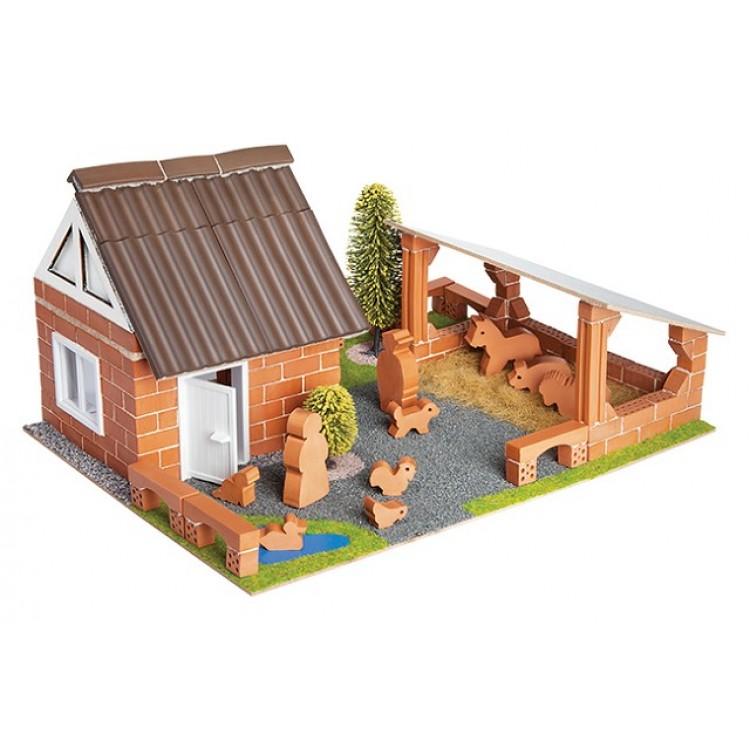 Teifoc Boerderij met Speelfiguren - TEI 4600