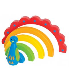 Regenboog pauw